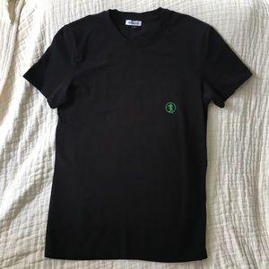 Dirk Bikkembergs Black V-Neck T-Shirt